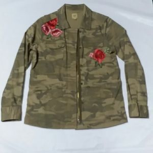 True Craft camo jacket with rose patches.